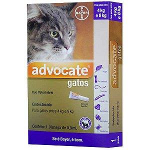 Antipulgas Bayer Advocate para Gatos de 4 a 8 Kg - 0,8 mL