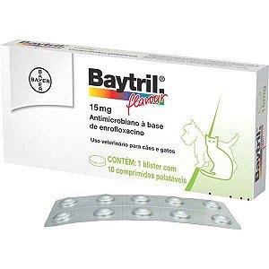 Antibiótico Bayer Baytril Flavour Enrofloxacino 15 mg - 50 mg - 150 mg e 250 mg  - 6 e 10 comprimidos