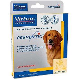 Coleira Virbac Preventic Anticarrapatos e Sarna - Tam. Único