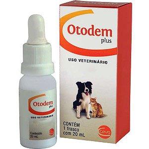 Solução Otológica e Dermatológica Ceva Otodem Plus - 20 mL