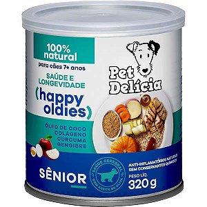 Ração Úmida Pet Delícia Natural Happy Oldies com Colágeno para Cães Sênior 7+ anos