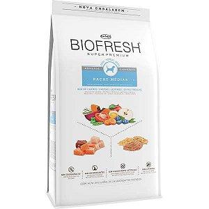 Ração Seca Biofresh Mix de Carne, Frutas, Legumes e Ervas Frescas Cães Castrados de Raças Médias