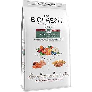 Ração Seca Biofresh Mix de Carne, Frutas, Legumes e Ervas Frescas Cães Sênior de Raças Grandes e Gigantes