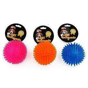 Brinquedo Bola Espinho com Som Cores sortidas Grande
