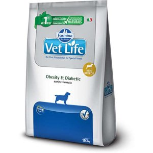 Ração Farmina Vet Life Natural Obesity e Diabetic para Cães Mini