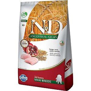 Ração Farmina N&D Ancestral Grain Frango Cães Filhotes Raças Grandes