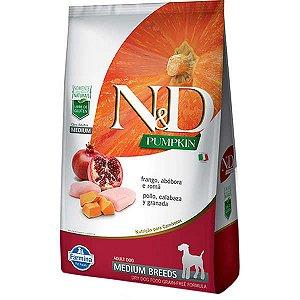 Ração Farmina N&D Pumpkin Frango para Cães Adultos de Raças Médias