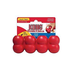 Brinquedo Interativo KONG Goodie Ribbon Vermelho