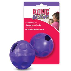 Brinquedo KONG Bola Treat Ball Pe4 com Dispenser para Petisco – Treat Bal