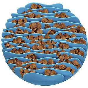 Comedouro Lento para Cães Fun Feeder Mat Azul Grande