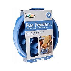 Comedouro Lento Fun Feeder para Cães – Azul Grande