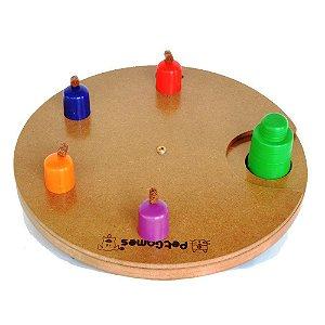 Brinquedo Tabuleiro  Pet Games Jogo Interativo Disco