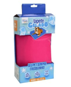 Tapete Gelado Pet Cooling Mat Rosa