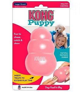 Brinquedo Interativo KONG Puppy com Dispenser de Ração ou Petisco para Filhotes - Rosa