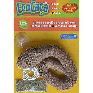 Brinquedo Eco Caça Cobra Pet Games para Gato com Catnip