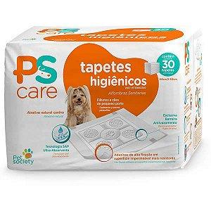 Tapetes Higiênico Pet Society PS Care para Cães de Raças Pequenas ou Filhotes 60 x 60