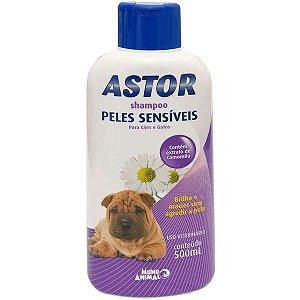 Shampoo Astor Peles Sensiveis para Cães e Gatos - 500 mL