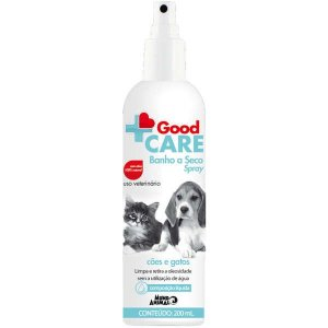 Banho a Seco Spray Mundo Animal Good Care para Cães e Gatos 200 ml