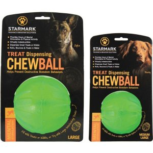 Stamark Tret Dispensing Chew Ball Tough Dog Toy