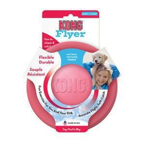 Frisbee de borracha Puppy Flyer KONG para flihotes