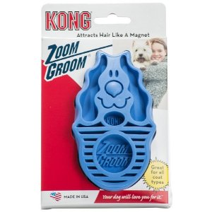Escova Kong ZoomGroom Boysenberry Cães Filhotes Azul