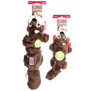Brinquedo Pelúcia Kong Squirrel Scrunch Knots