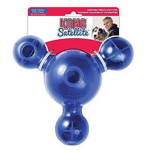 Brinquedo Interativo KONG Satellite Treat com Dispenser para Ração ou Petisco - Azul