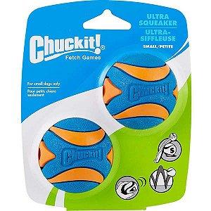 Bola Chuckit Ultra Squeaker Com Apito - 2 Unidades