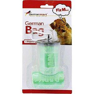 Dispenser GermanHart GermanBag Transparente com Refil Verde