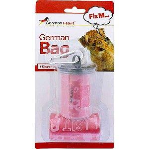 Dispenser GermanHart GermanBag Transparente com Refil Vermelho