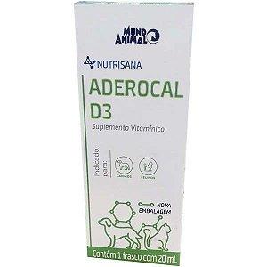 Suplemento Vitaminico Aderocal D3 Mundo Animal Nutrisana para Cães e Gatos
