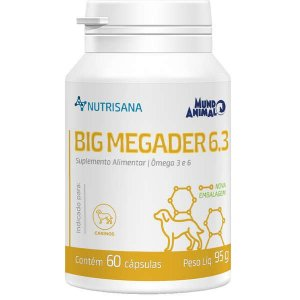 Suplemento NutriSana Big Megaderm Cães - 60 Cápsulas