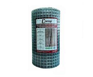 Tela Soldada Galvanizada Para Revestimento Comep - Fio 1,24mm / Malha 2,5x2,5cm / Rolo com 25m