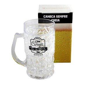 Caneca Congelável Com Cerveja Não Tem Tristeza - Chopp