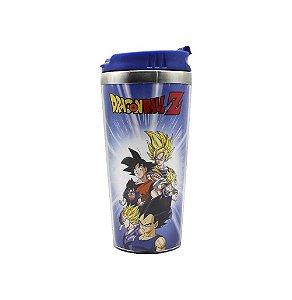 Copo Viagem Dragon Ball Z Esferas Goku Vegeta Gogeta Vegetto