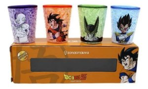 Kit Copo Shot Dragon Ball Goku Vegeta Cell Freeza
