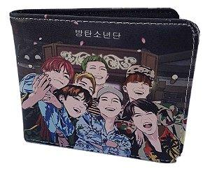 Carteira Porta Cédulas BTS K-pop