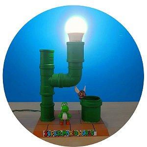 Luminária Abajur Super Mario - Tobo PVC