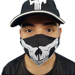 Máscara de Tecido Lavável Caveira
