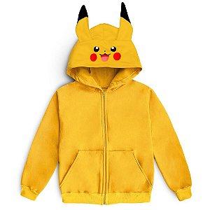 Moletom Pikachu Pokemon Blusa Casaco