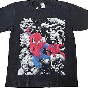 Camiseta Homem Aranha Vingadores Preta