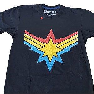 Camiseta Capitã Marvel Vingadores Preta