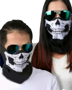 Máscara Motoqueiro de Tecido Lavável Caveira