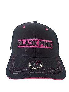 Boné Black Pink Preto Aba Curva