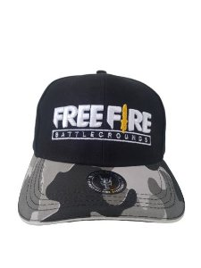 Boné Free Fire Camuflado Aba Curva