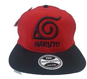 Boné Naruto Aldeia da Folha Aba Reta