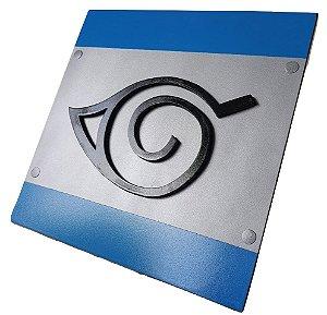 Quadro decorativo 3D Aldeia da Folha Naruto bandana MDF