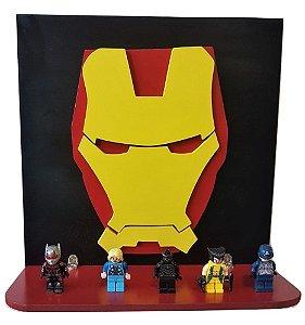 Prateleira Decorativa 3D Homem de Ferro Vingadores MDF