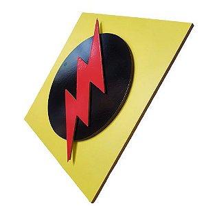 Quadro Decorativo 3D Flash Reverso Liga da Justiça MDF