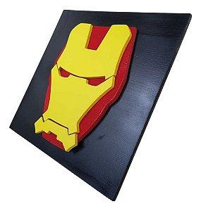 Quadro Decorativo 3D Homem de Ferro Vingadores MDF